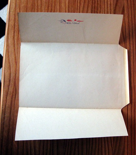 Vintage air mail fold and mail stationery