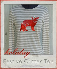 how to make a festive critter tee