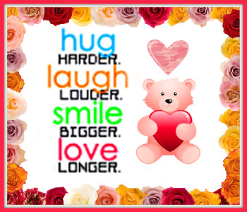 hug,laugh,smile,love