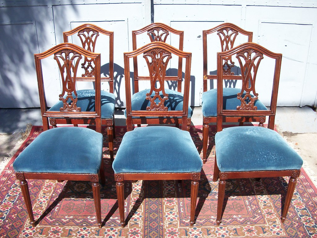 Antiguas sillas estilo ingles living comedor sala mesa - Juego de comedor segunda mano ...