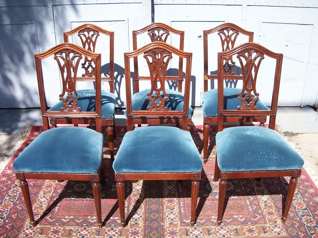 antiguas sillas estilo ingles living comedor sala mesa  Muebles