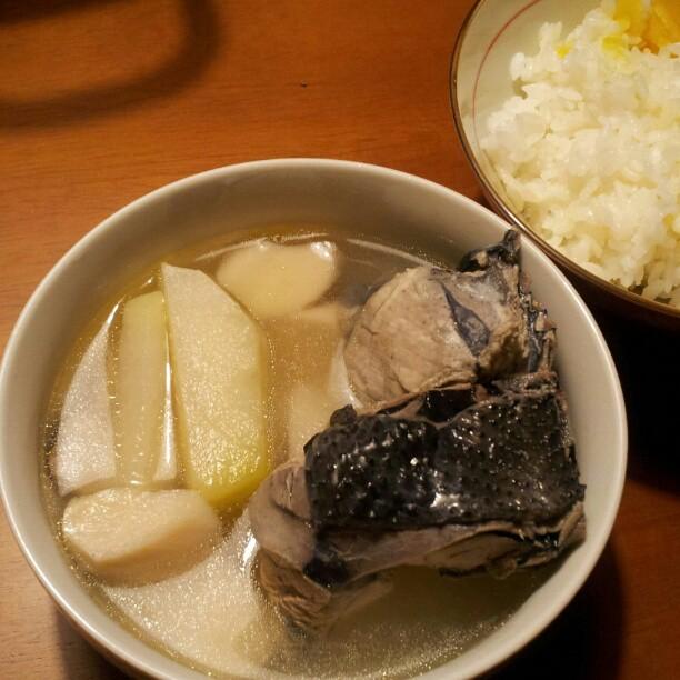 20121109 大頭菜烏骨雞湯