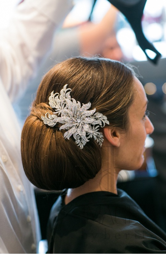 glam bridal headpiece, classic bridal up-do, bridal bun, statement bridal hair accessory