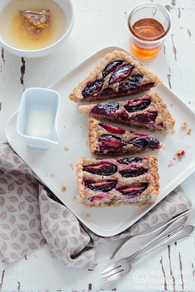 Honey Cinnamon Zwetschgen and Hazelnut Cream Tart  (0028) by Meeta K. Wolff