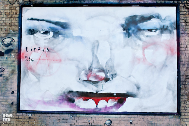 Street Artist Anthony Lister redecorates the streets of London