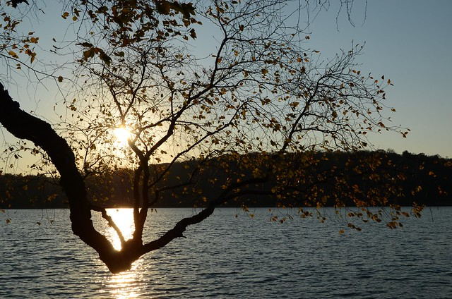 Sunset over Jamaica Pond