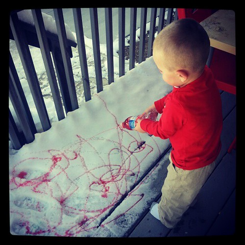 A snow painter