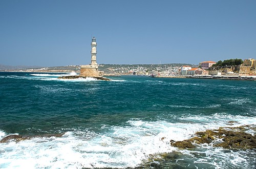 Chania Harbor in Crete