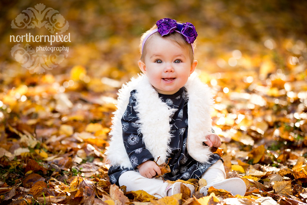 Fall Family Photos Baby Leaves Happy