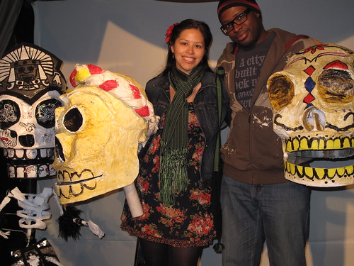 Enjoying Día de los Muertos at Self Help Graphics