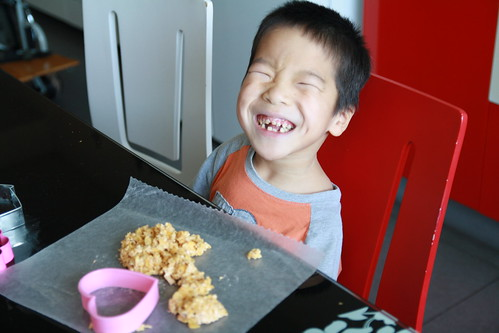 Judah making rice crispy treats (2)