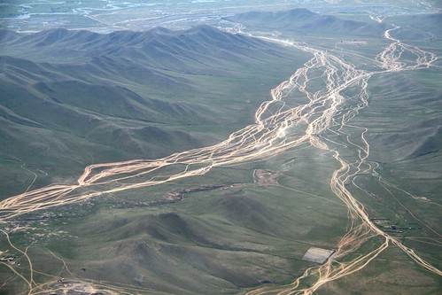 landscape asia flight tracks aerialview mongolia routes birdseyeview nationalgeographic