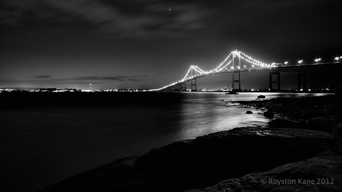 Newport Bridge B&W by Royston_Kane