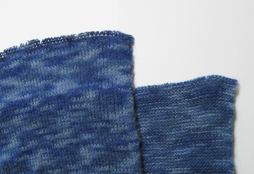 Sweater knit fabric close up