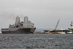 PCU Anchorage (LPD 23) arrives in its new homeport of San Diego, Nov. 21. (U.S. Navy photo by Senior Chief Mass Communication Specialist Robert Winkler)