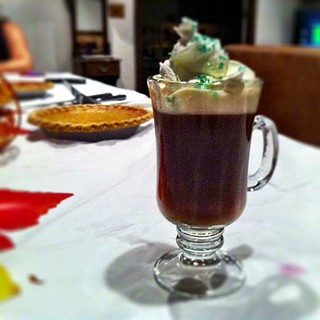 irish coffee #jameson & pumpkin pie (always room for ;)