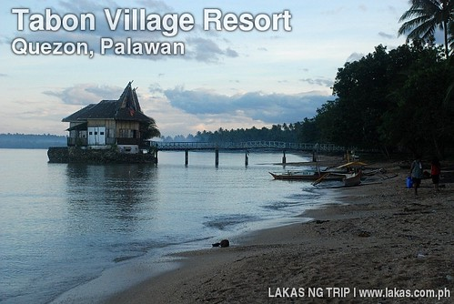 Tabon Village Resort in the early morning in Quezon, Palawan