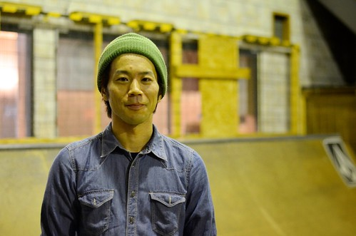 kazuyuki okibe / frontside feeble grinds