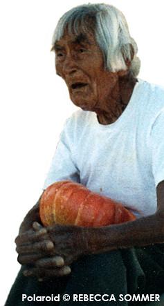Hopi Elder Titus Qomayumptewa (Polaroid ©Rebecca Sommer)