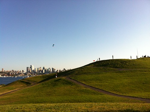 Gasworks park during the best light of the day