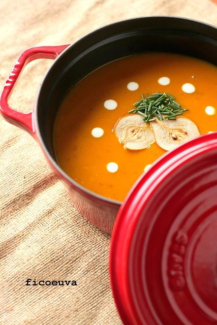 zuppa zucca pere zenzero