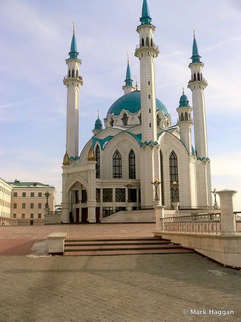 The Qolsharif Mosque at the Kremlin in Kazan, Russia