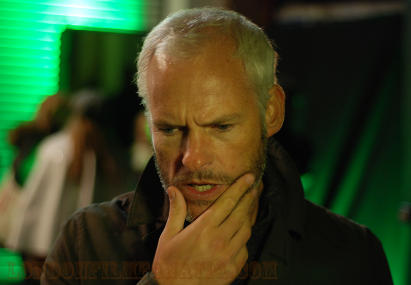 Martin McDonagh ponders a question at the Seven Psychopaths premiere