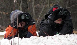 winter birding with the Harris Center (photo: Eric Aldrich)