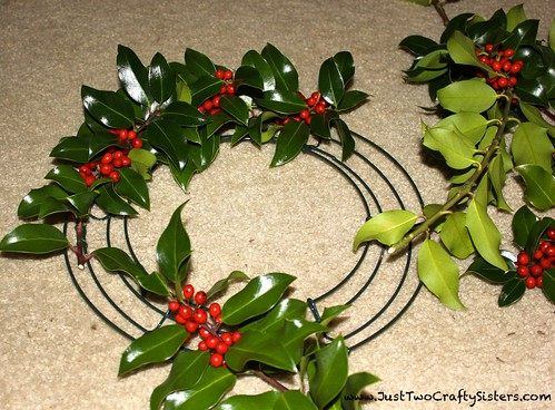 Making a Holly Wreath for the Holidays