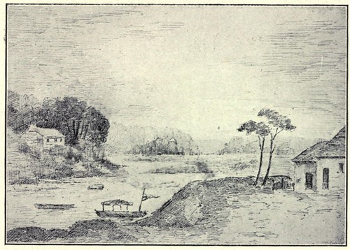 View on the Miami River [ now the Maumee River, probably at or near Fort Miami ]