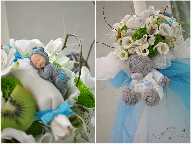 "Lumanare botez - Christening candle "" Tatty teddy bear """