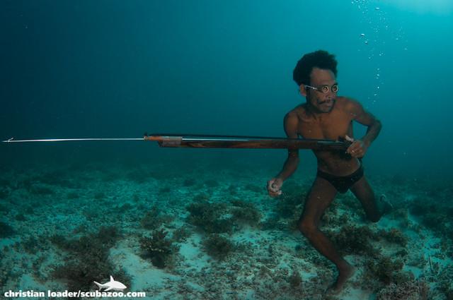 Bajau spearfisherman - Mabul Island, Sabah-3