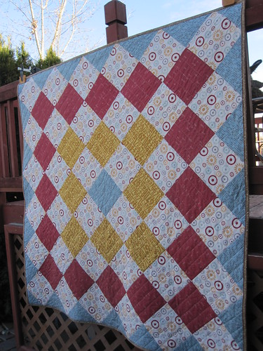 Another view of Giant Granny Quilt
