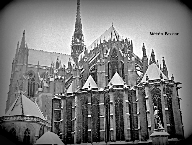 illlustration du contraste thermique Nord-Sud le 2 décembre 1952 à Beauvais météopassion
