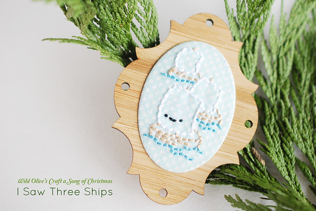 I Saw Three Ships Embroidery Pattern