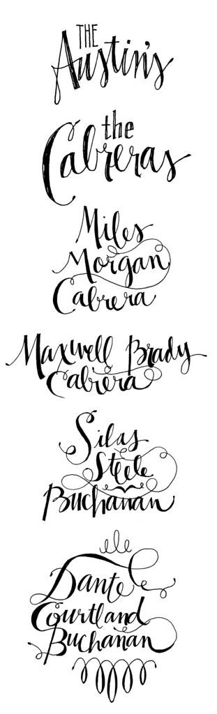 handwrittentypography