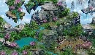 蜀山傳奇-遊戲場景-雁盪山
