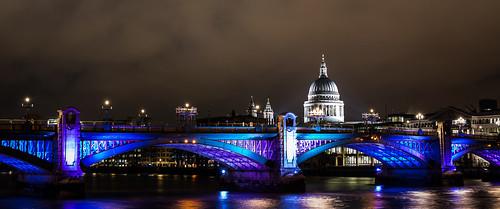 Southwark Bridge, London - night shot / long exposure