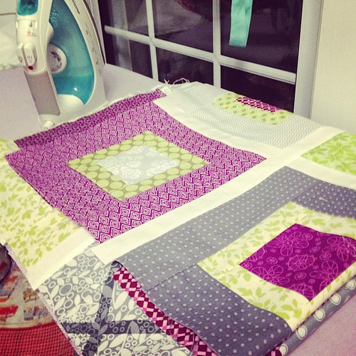 #widn Nearly-finished quilt top, but past my bedtime. Goodnight!