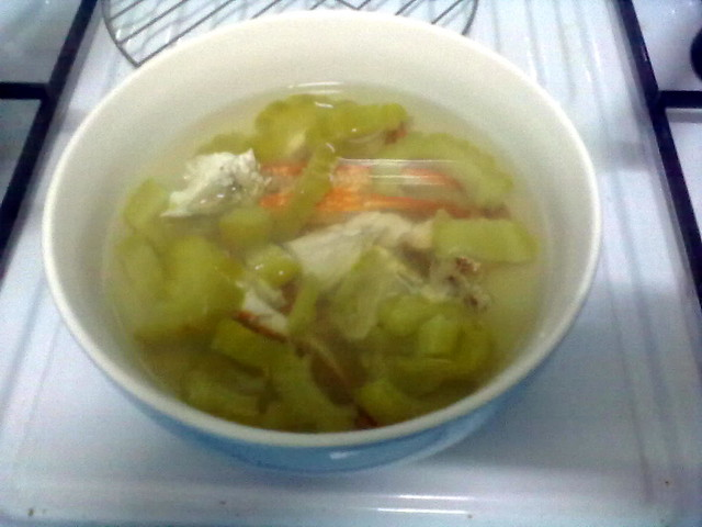 Flower crab n bitter gourd soup