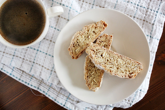 biscotti + coffee.