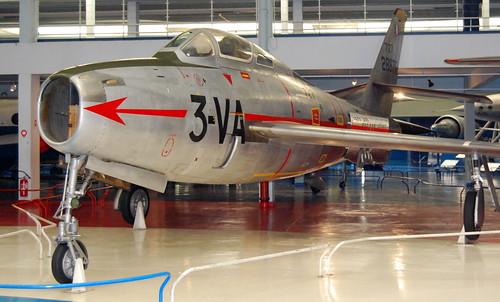 Republic F-84F Thunderstreak, Musee de l'Air et de l'Espace, Le Bourget, Paris.