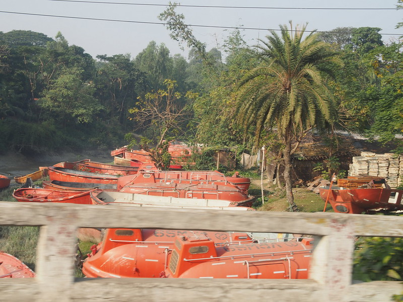 Lifeboats in Chittagong