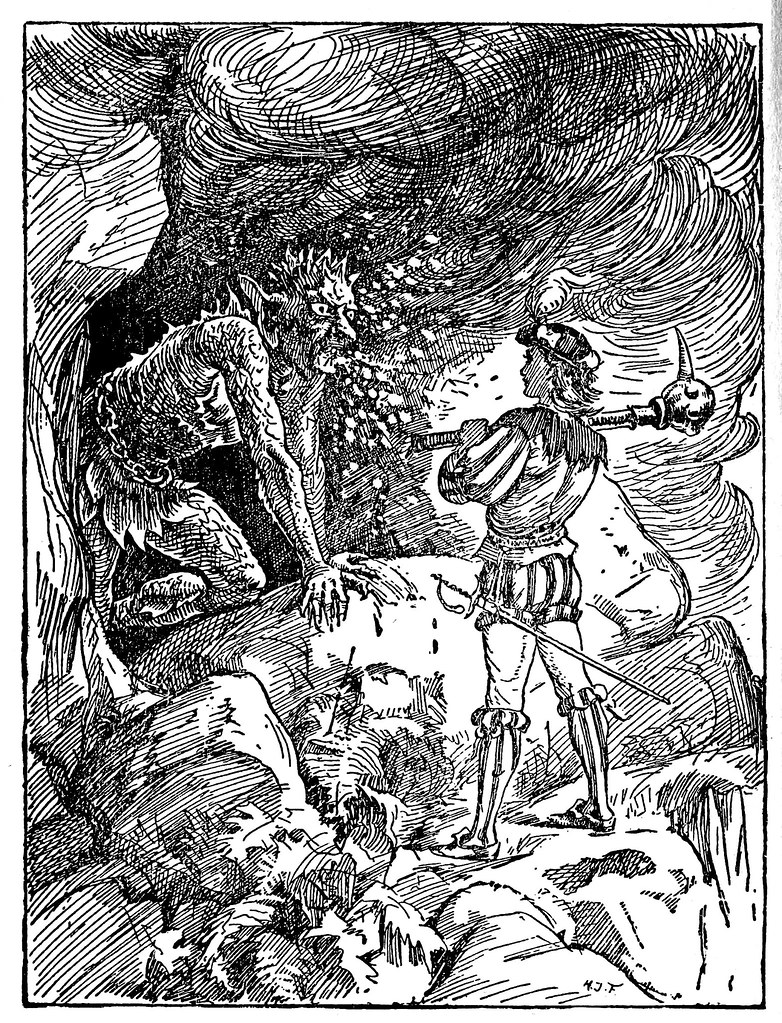 Henry Justice Ford - The blue fairy book, edited by Andrew Lang, 1920 (illustration 4)