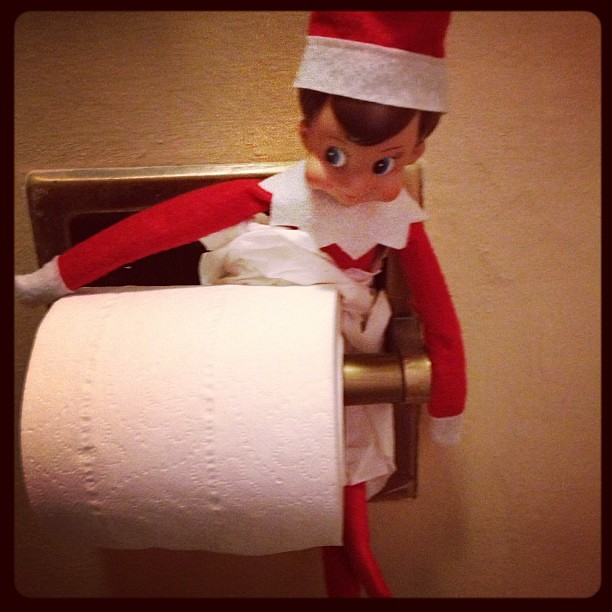 Stuck! #elfontheshelf