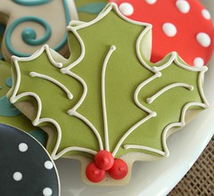 Holly Leaf Cookie