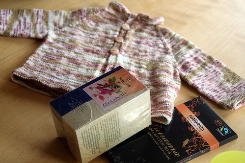 a knitted baby present!