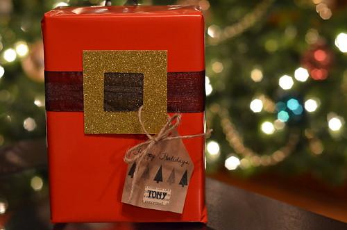 Santa gift wrap