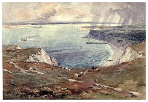 015-Bahia de Totland-Isle of Wight (1908)-Alfred Heaton Cooper