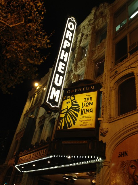 The Lion King, Orpheum Theatre